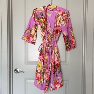 Other - Floral Cotton Robe